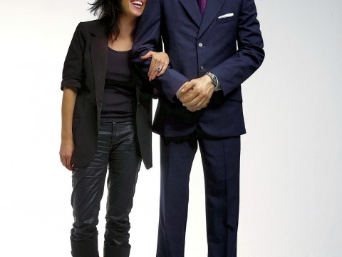 Jennifer Rubell with &ldquo;Prince William&rdquo; in <i>Engagement</i>