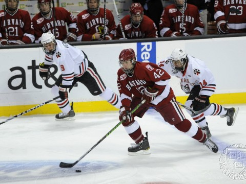 Harvard and Northeastern in 2011 Beanpot action