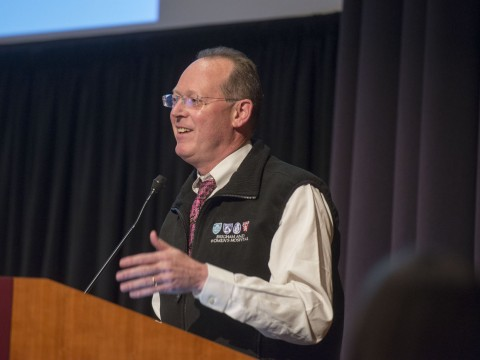 "At yesterday's conference, Paul Farmer, Kolokotrones University Professor of global health and social medicine, spoke about how the Ebola outbreak exposed the need to raise the standard of basic medical care in West Africa. Farmer said that ""low aspirations"" are ""the poison we have to work against."""