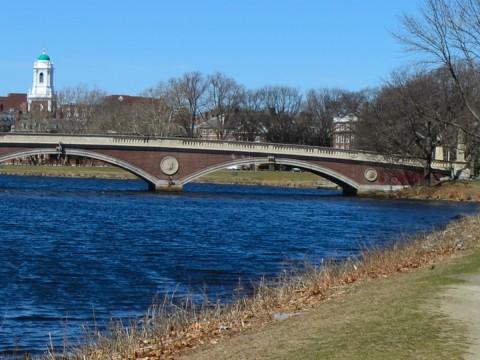Fishing, anyone? The Weeks Footbridge and Charles River await.