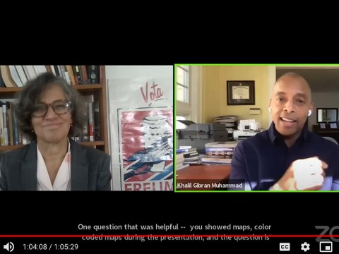 Screen shot of Mary T. Bassett and Khalil Gibran Muhammad