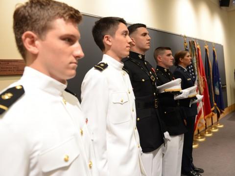 ROTC's Harvard Class of 2013 (from left): Colin Dickinson, Christian Yoo, Gavin Pascarella, Brian Furey, and Courtney Diekema