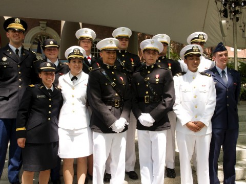 The Harvard ROTC class of 2016