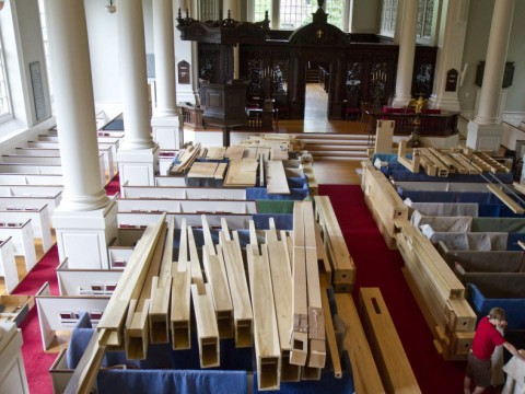 A new organ is being installed in Memorial Church this summer.