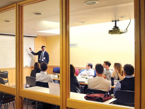 Gawande at his weekly meeting with his research team, discussing initiatives to improve surgical safety