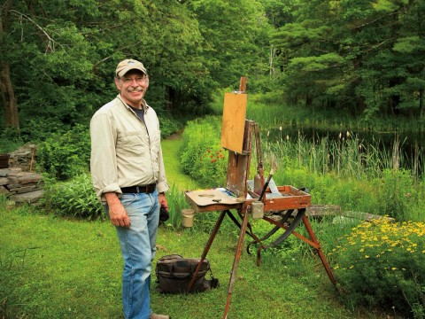 James Coe's backyard and frog pond are worthy of their own plein air paintings.