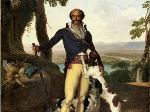 <i>Portrait of a Hunter in a Landscape,</i> attributed to Louis Gauffier (1762-1801), is said to be a portrait of General Dumas.