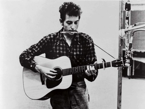 Bob Dylan in 1965. Already, the classical world was starting to influence his writing.
