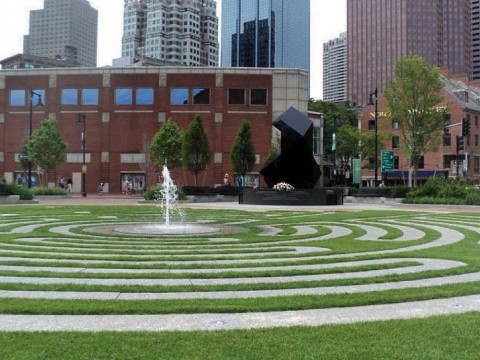Outdoors at Boston's Armenian Heritage Park