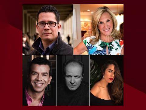 Headshot portraits of: Roberto Gonzales, Peggy Koenig, Michelle Rodriguez, Julio Reyes Copello, Sergio Trujillo