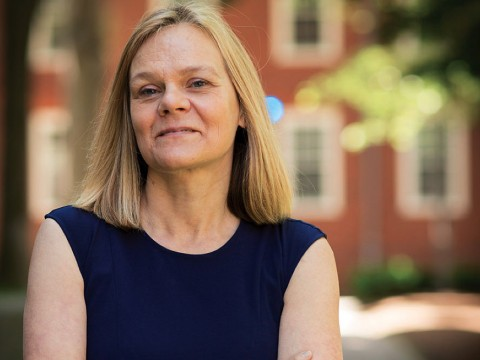 Photograph of Emma Dench, dean of Graduate School of Arts and Sciences