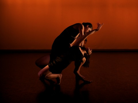 A scene from the Harvard-Radcliffe Modern Dance Company (HRMDC) anniversary show, <i>35: Thirty-Five Years of Dance</i>