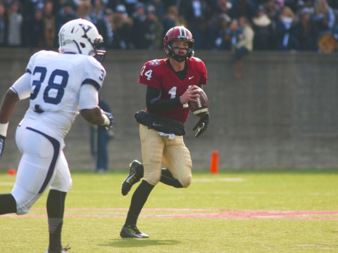 Shaking off his first-half rust, quarterback Conner Hempel '15 rebounded in the final 30 minutes, completing 11 of 16 passes for 163 yards and the enormous final touchdown.
