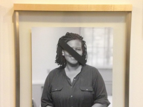 The portrait of Warren professor of American legal history Annette Gordon-Reed was among those defaced.