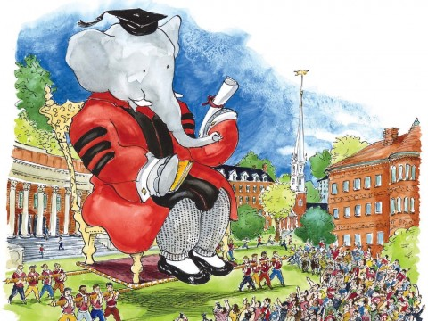 Babar receives an honorary degree from Harvard